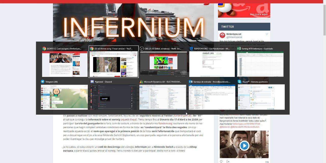NintenhypeCat: Sorteig + guanyador d'Infernium (Nintendo Switch)