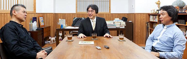 Shigesato Itoi, Satoru Iwata i Shigeru Miyamoto