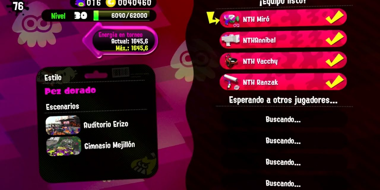 Squad de 4 a splatoon 2#youtuberscatalans #gaming.cat