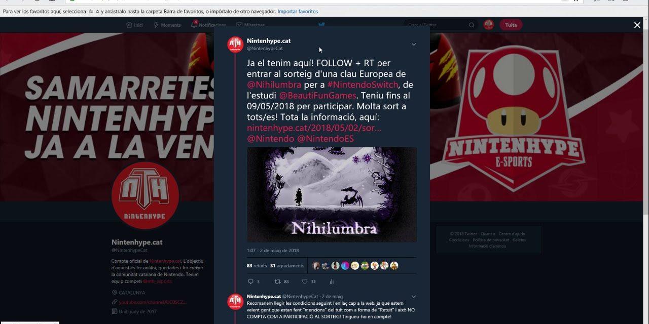 NintenhypeCat: Sorteig + guanyador Nihilumbra (Nintendo Switch)