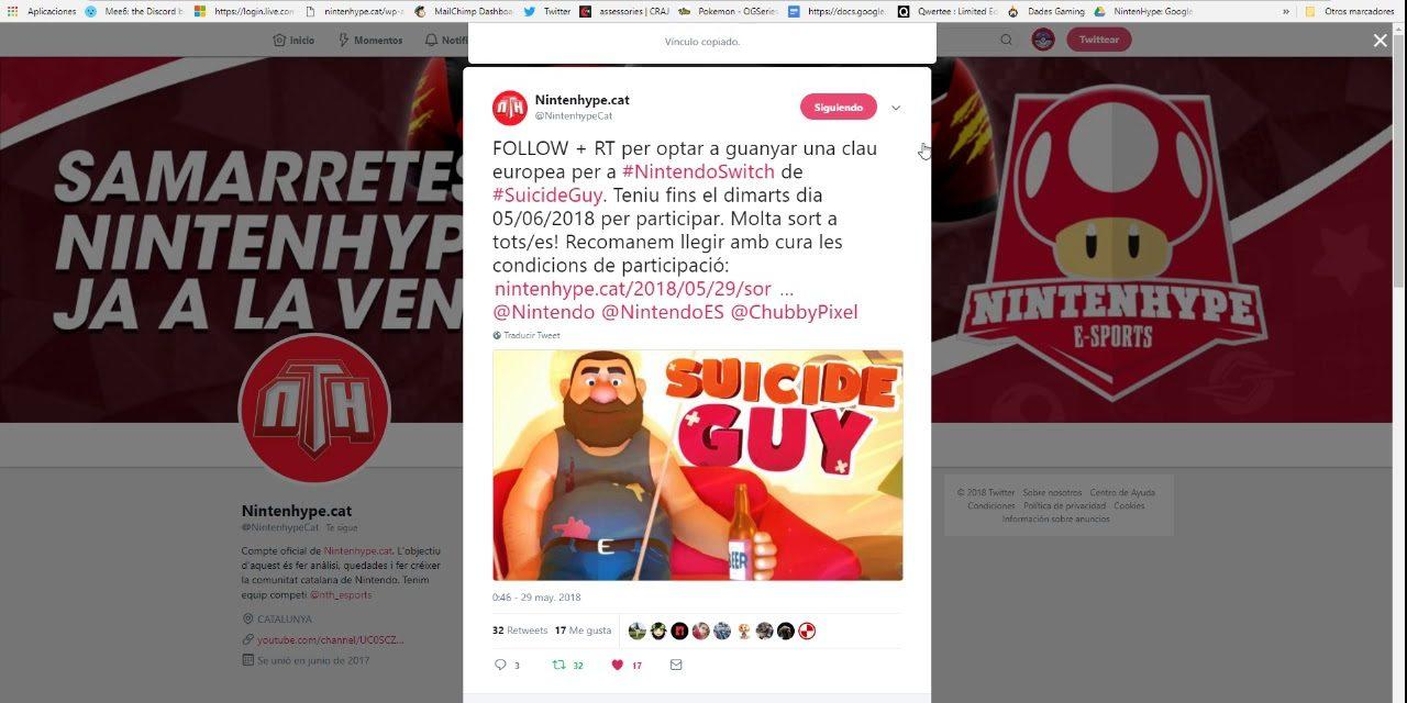 NintenhypeCat: Sorteig + resultat Suicide Guy (Nintendo Switch)